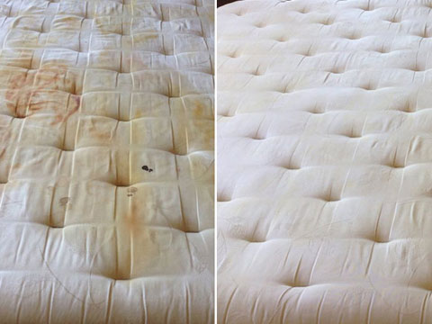 Mattress Cleaning Before and After 2