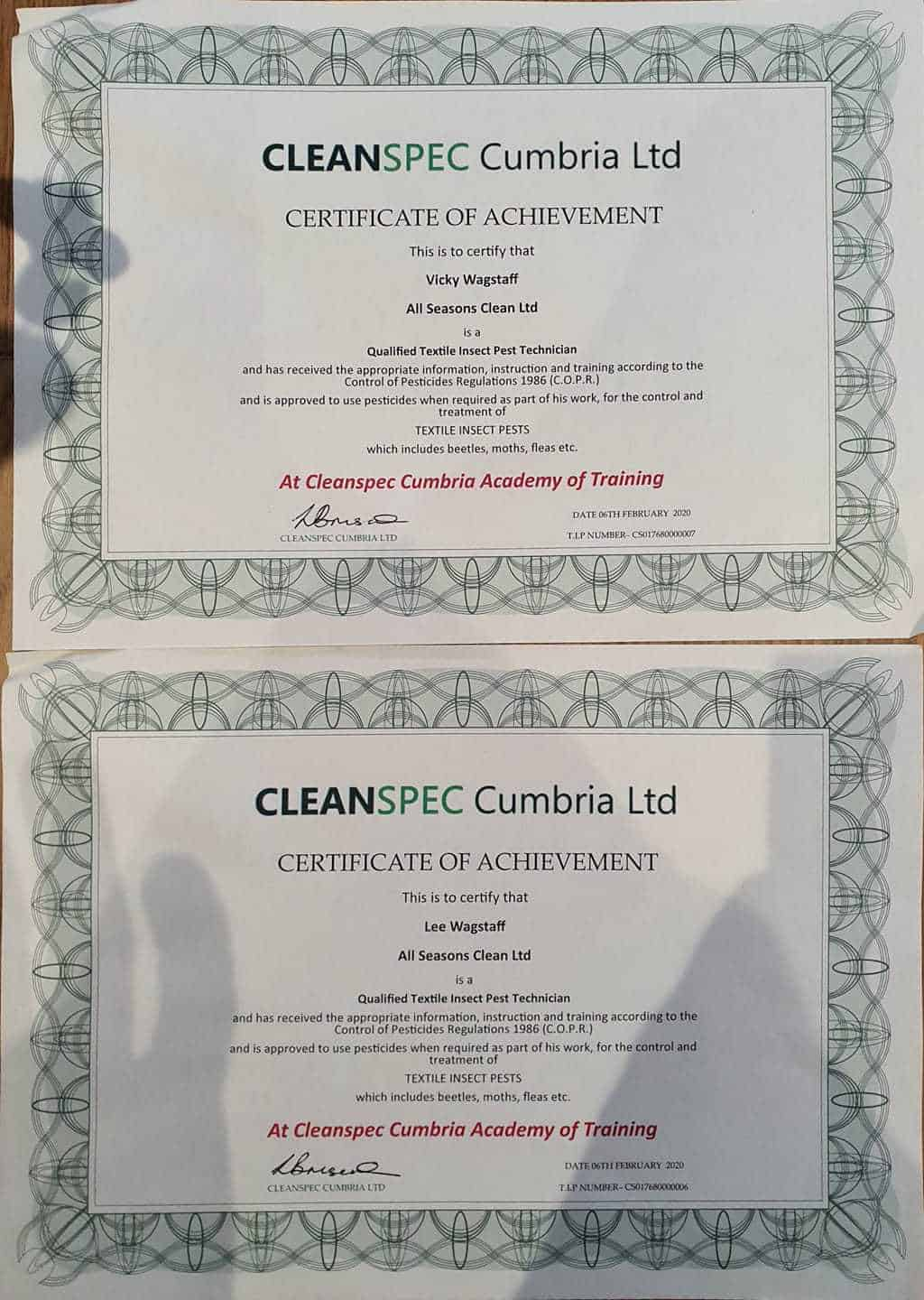 Qualified Textile Insect Pest Technician